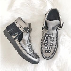 Coach Roccasin Cut Out Sneaker Flat Ankle Boots